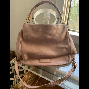 Blush leather M by MJ leather satchel.